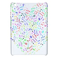Prismatic Musical Heart Love Notes Rainbow Apple Ipad Mini Hardshell Case by Alisyart