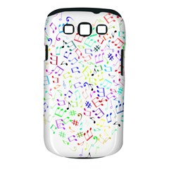 Prismatic Musical Heart Love Notes Rainbow Samsung Galaxy S Iii Classic Hardshell Case (pc+silicone)