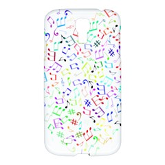 Prismatic Musical Heart Love Notes Rainbow Samsung Galaxy S4 I9500/i9505 Hardshell Case