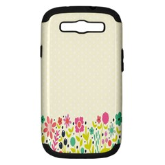 Spring Floral Flower Rose Tulip Leaf Flowering Color Samsung Galaxy S Iii Hardshell Case (pc+silicone) by Alisyart