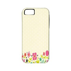 Spring Floral Flower Rose Tulip Leaf Flowering Color Apple Iphone 5 Classic Hardshell Case (pc+silicone)