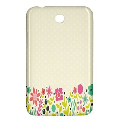 Spring Floral Flower Rose Tulip Leaf Flowering Color Samsung Galaxy Tab 3 (7 ) P3200 Hardshell Case  by Alisyart