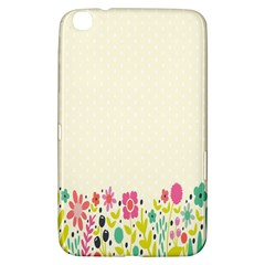 Spring Floral Flower Rose Tulip Leaf Flowering Color Samsung Galaxy Tab 3 (8 ) T3100 Hardshell Case