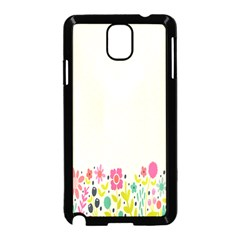Spring Floral Flower Rose Tulip Leaf Flowering Color Samsung Galaxy Note 3 Neo Hardshell Case (black)