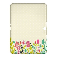 Spring Floral Flower Rose Tulip Leaf Flowering Color Samsung Galaxy Tab 4 (10 1 ) Hardshell Case