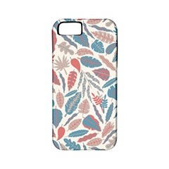 Spencer Leaf Floral Purple Pink Blue Rainbow Apple Iphone 5 Classic Hardshell Case (pc+silicone)