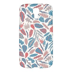 Spencer Leaf Floral Purple Pink Blue Rainbow Samsung Galaxy S4 I9500/i9505 Hardshell Case
