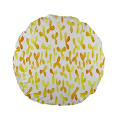 Springtime Yellow Helicopter Standard 15  Premium Flano Round Cushions by Alisyart