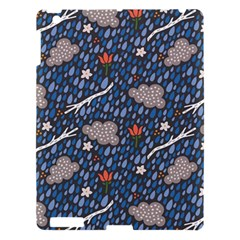 Spring Flower Floral Rose Rain Blue Grey Cloud Water Apple Ipad 3/4 Hardshell Case by Alisyart