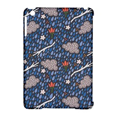 Spring Flower Floral Rose Rain Blue Grey Cloud Water Apple Ipad Mini Hardshell Case (compatible With Smart Cover)