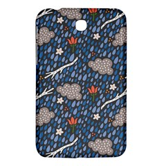 Spring Flower Floral Rose Rain Blue Grey Cloud Water Samsung Galaxy Tab 3 (7 ) P3200 Hardshell Case