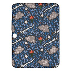 Spring Flower Floral Rose Rain Blue Grey Cloud Water Samsung Galaxy Tab 3 (10 1 ) P5200 Hardshell Case