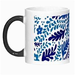 Spring Flower Leaf Blue Morph Mugs