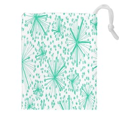 Spring Floral Green Flower Drawstring Pouches (xxl) by Alisyart