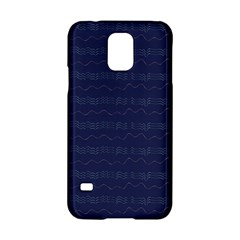 Summers Night Wave Chevron Blue Samsung Galaxy S5 Hardshell Case  by Alisyart