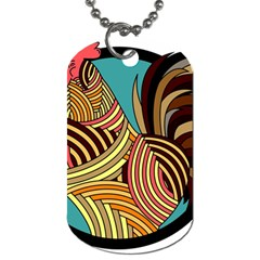 Rooster Poultry Animal Farm Dog Tag (Two Sides) by Amaryn4rt