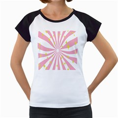 Star Pink Hole Hurak Women s Cap Sleeve T