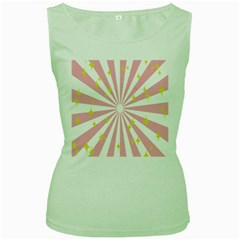 Star Pink Hole Hurak Women s Green Tank Top