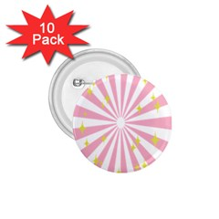 Star Pink Hole Hurak 1 75  Buttons (10 Pack)