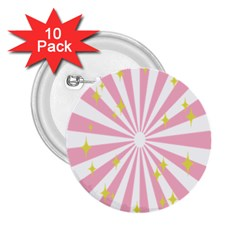 Star Pink Hole Hurak 2 25  Buttons (10 Pack)