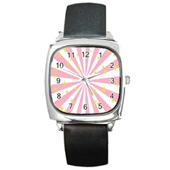 Star Pink Hole Hurak Square Metal Watch