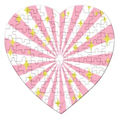 Star Pink Hole Hurak Jigsaw Puzzle (heart)