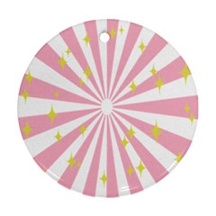Star Pink Hole Hurak Round Ornament (two Sides) by Alisyart