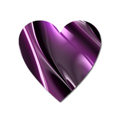 Purple Fractal Mathematics Abstract Heart Magnet by Amaryn4rt