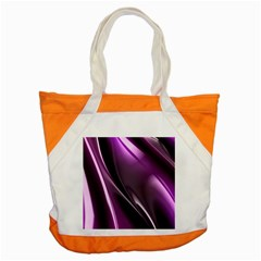 Purple Fractal Mathematics Abstract Accent Tote Bag by Amaryn4rt