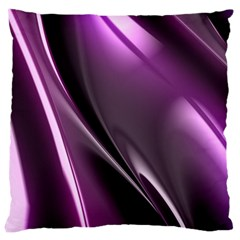 Purple Fractal Mathematics Abstract Large Cushion Case (one Side) by Amaryn4rt