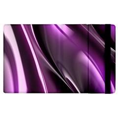 Purple Fractal Mathematics Abstract Apple Ipad 2 Flip Case by Amaryn4rt