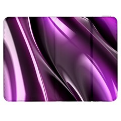 Purple Fractal Mathematics Abstract Samsung Galaxy Tab 7  P1000 Flip Case by Amaryn4rt