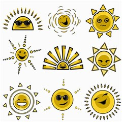 Sun Expression Smile Face Yellow Canvas 16  X 16   by Alisyart