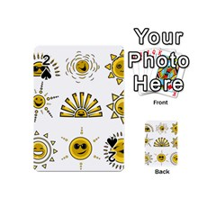 Sun Expression Smile Face Yellow Playing Cards 54 (mini)  by Alisyart