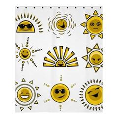 Sun Expression Smile Face Yellow Shower Curtain 60  X 72  (medium)  by Alisyart