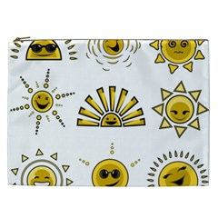 Sun Expression Smile Face Yellow Cosmetic Bag (xxl)  by Alisyart