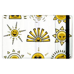 Sun Expression Smile Face Yellow Apple Ipad 2 Flip Case by Alisyart