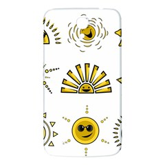 Sun Expression Smile Face Yellow Samsung Galaxy Mega I9200 Hardshell Back Case