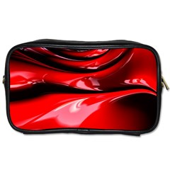 Red Fractal Mathematics Abstract Toiletries Bags by Amaryn4rt