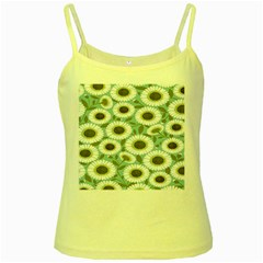 Sunflower Flower Floral Yellow Spaghetti Tank