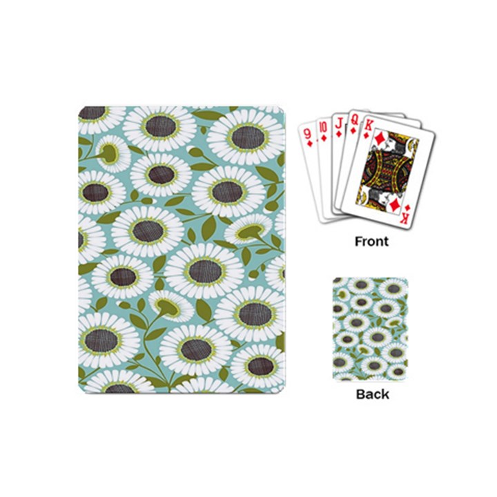 Sunflower Flower Floral Playing Cards (Mini)