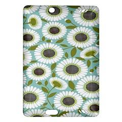 Sunflower Flower Floral Amazon Kindle Fire Hd (2013) Hardshell Case by Alisyart