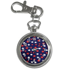 Star Red White Blue Sky Space Key Chain Watches by Alisyart