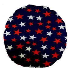 Star Red White Blue Sky Space Large 18  Premium Round Cushions by Alisyart