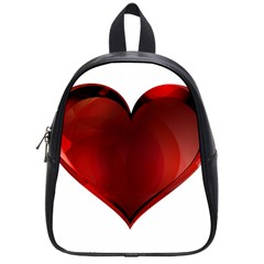 Heart Gradient Abstract School Bags (small)  by Amaryn4rt