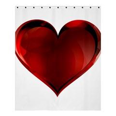 Heart Gradient Abstract Shower Curtain 60  X 72  (medium)  by Amaryn4rt