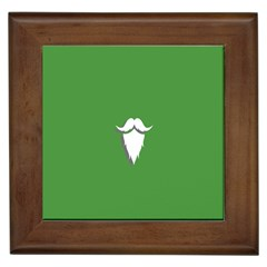 The Dude Beard White Green Framed Tiles