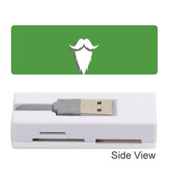 The Dude Beard White Green Memory Card Reader (stick)  by Alisyart