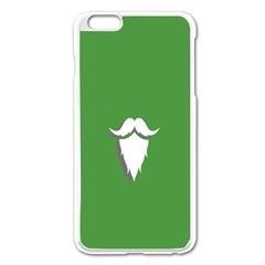 The Dude Beard White Green Apple Iphone 6 Plus/6s Plus Enamel White Case by Alisyart