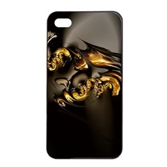 Fractal Mathematics Abstract Apple Iphone 4/4s Seamless Case (black) by Amaryn4rt